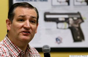 "Republican presidential candidate, Sen. Ted Cruz, R-Texas, speaks during a ""Celebrate the 2nd Amendment Event,"" Saturday, June 20, 2015, at the CrossRoads Shooting Sports in Johnston, Iowa. (AP Photo/Charlie Neibergall)"